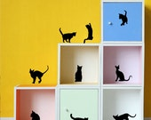SALE Cute cats kitten ----Removable Graphic Art wall decals stickers home decor