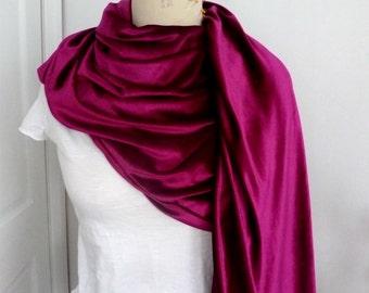 Fuchsia Velvet shawl/scarf