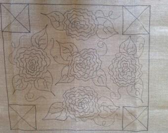 Antique Roses Pattern for Lil' Gems Footstool