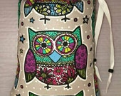 XL,Mini Rig,Bubbler,Pipe Bag, Groovy, Owl, Owls,Print,Glass Pipe Protection,Pretty Pouches,Glass Pipe Bag,Protect Your Glass #2