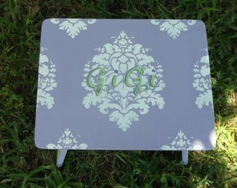 Kids Step Stool, Lavender and Green, DAMASK, Kids and Baby, Steps & Stools, Bench, Kids Furniture