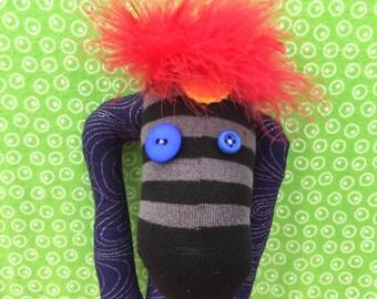 david bowie ziggy stardust aladdin sane handmade sock creature