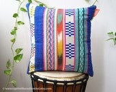Mexican Pillow Decorative Throw Cushion - Multicover STRIPE Weave