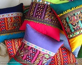 Ethnic Throw Pillow Covers Boho Batik - Decorative Cushion Covers