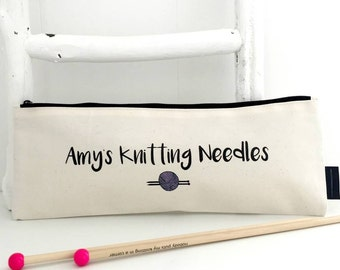 Personalised Knitting Needle Case | Knitting  Bag | Personalised Knitting Gift | Knitting Needle Storage | Knitting Accessories