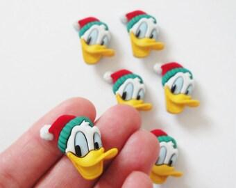 Donald Duck Buttons 6pc