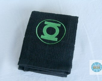 Green Lantern Symbol Inspired Hand Towel