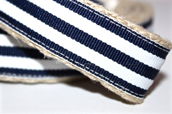 Navy Stripe Dog Leash, Navy and White Stripe Leash, Nautical Dog Leash, Red Dog Leash