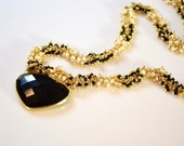 LP 1273 Freshwater Pearls, Black Seed Beads, Black Spinel, Black Onyx Vermeil And 14KGF Necklace