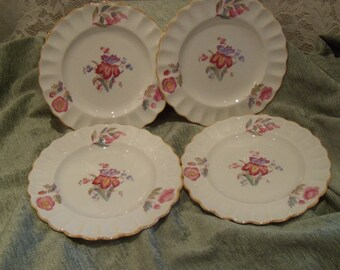 copeland spode iris pattern set of four desert plates