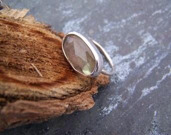 Labradorite Ring: READY TO SHIP Size 7