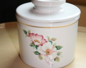 House of Webster Wild Briar Rose Butter Crock Dish Keeper