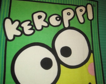 Keroppi with Green Couch Nap Coverlet - This Blanket is Ready to Ship Now
