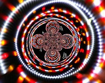 FIRE Strobe LED Hula Hoop