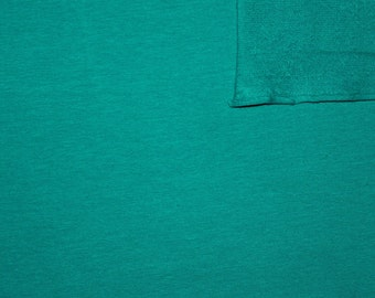 Deep Jade 4 Way Stretch French Terry Knit Fabric With Spandex, 1 Yard