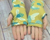 Womens Fingerless Gloves - Organic arm warmers- Fingerless mitts-Short gloves-Texting Gloves-Driving Gloves-Best Seller-Handmade