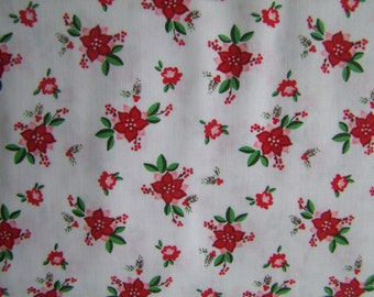 Floral White Pixie Noel Fabric Natasha Noel Riley Blake Design