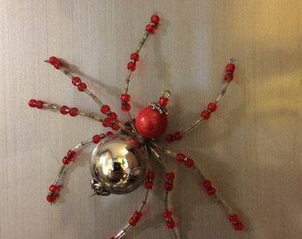 Beaded Spider Magnet - Hand Made Ornament Decoration
