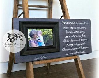 Grandparent Gifts, Grandma gift, Grandpa gift, Grandchildren Photo Frame, Grandchildren Picture Frame, Grandchildren Sign, 8x20