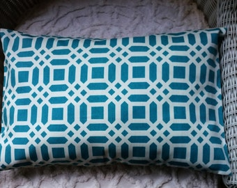 CLEARANCE  12 x 18 Lumbar Pillow Boxed In Fabric Both Sides