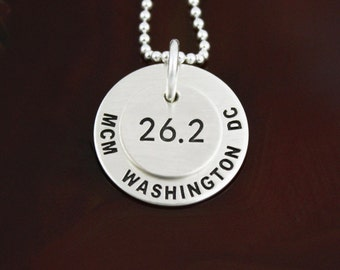 Race Necklace - Customize For Your Race - Sterling Silver Runner Jewelry
