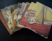 Where the Wild Things Are upcycled small gift card envelopes