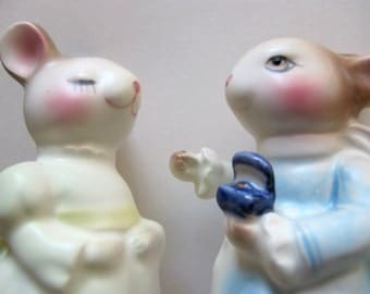 AVON Precious Moments friends figurine Bunnies