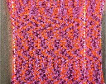 100% Cotton Crochet Chevron Baby Blanket~Ready to Ship~FREE SHIPPING