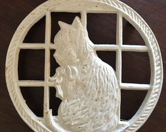 Vintage French Country Cat Kitten Trivet