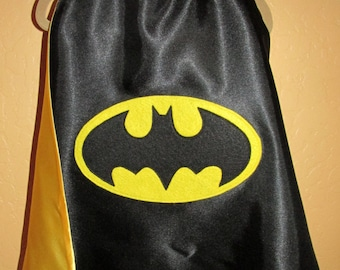 Batman Cape / Super Hero Cape /  Reversible Cape / Personalized Capes / Custom Capes / Children Cape