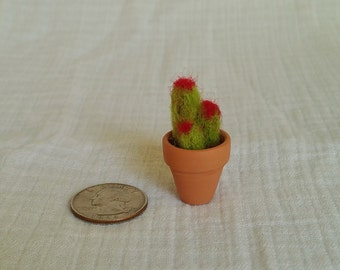 Miniature Needle Felted Cactus