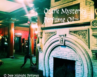 OZARK MYSTERIES™ Perfume Oil - Cherrywood, Tobacco, Smoke, Leather, Ivy, Gingerbread, Spirit Accord - Haunted Inns - Halloween Perfume