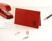 Embossed Monogrammed Business Card Holder, Vinyl Business Card Holder, BIZ03163