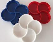 Dansk Serving Tray/Plastic Tray /Vintage Tray/Dansk/Red White Blue By Gatormom13