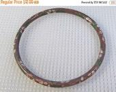Sale 20 Vintage cloisonne enamel on metal bangle bracelet. 1950's