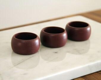 Mauve Wooden Napkin Rings | Set of 3