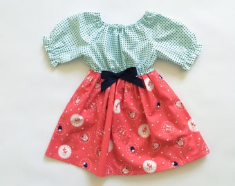 Ready to Ship - Baby Girl Gift - Gifts for Girls - New Baby Gift - Gifts under 25 - Baby Gifts under 25 - Woodland Animals Dress