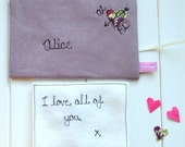 Lilac Linen Love Note - Linen Anniversary Gift For Wife - 4th Wedding Anniversary Gift - Proposal Gift - Personalized Love Note