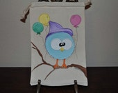 Birthday Spring Large Hand Painted Gift Wrap Muslin Gift Bags