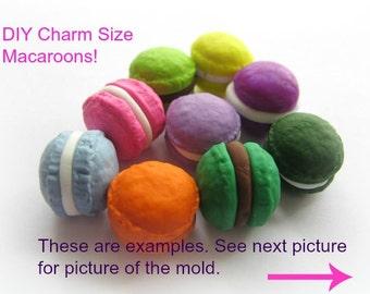 Macaron  Mold Resin Clay Fake Food Diy Jewelry Charms Kawaii Mold