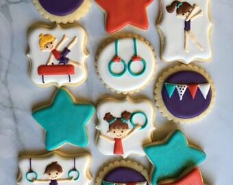 Gymnastic Party Sugar Cookies