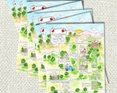 Wedding Map Prints double sided add on to map purchase