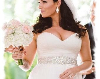 Bridal Belt, 31 inch Crystal Wedding Dress Belt, Wide Rhinestone Wedding Sash, Jeweled Bridal Belt, Wedding Belts Sashes, No. 1126S3-31-3070