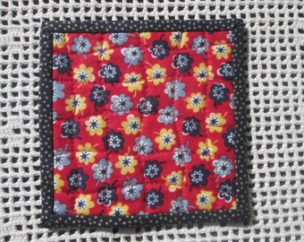 Spring Fabric Coasters - Set of 4