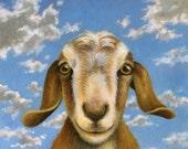 Goat Portrait Print - Farm Animal Portrait - Country Decor - Chèvre Cheese