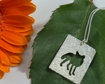 Silver fox pendant