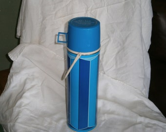 Vintage Blue Thermos