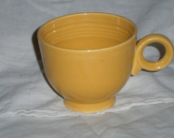 Vintage Yellow Coffee Cup