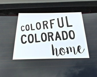 Colorful Colorado Home State Decal