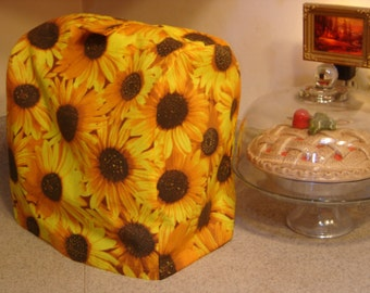 Arti KitchenAid mixer DUST COVER only,  SUNFLOWERS  For 4.5- 5 qt Tilt Head